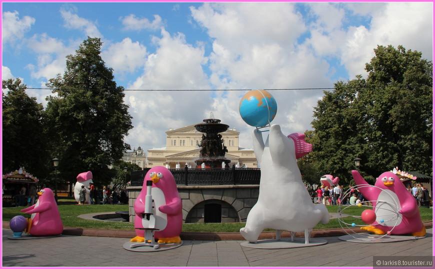 Гостей праздника мороженого встречали розовые пингвины и белые медведи.