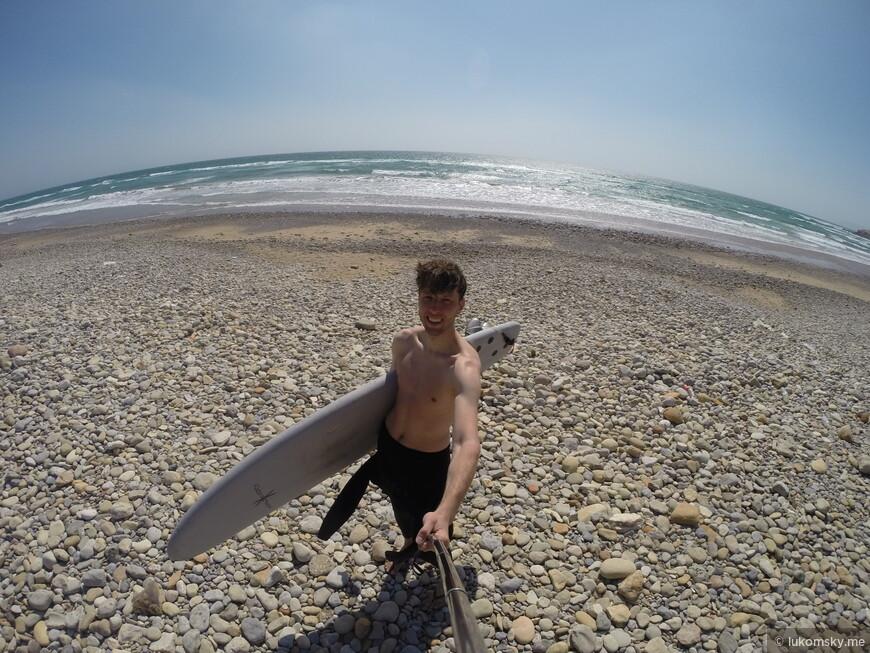 Дикий пляж Агадира. Атлантический океан