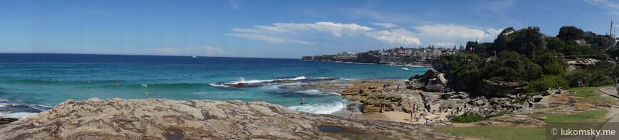 Береговая линия не далеко от  Bondi Beach
