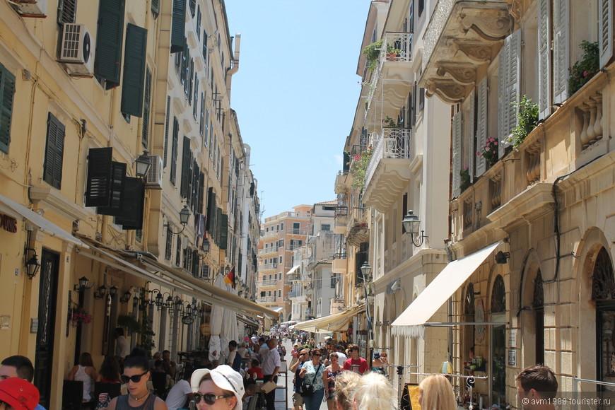 Торговая улочка в центре города