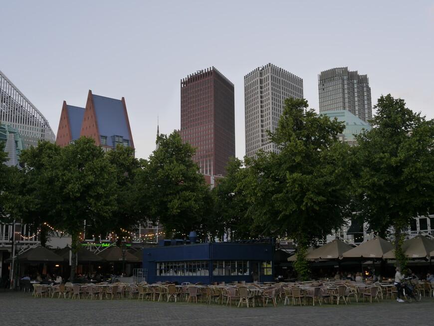 А вот вдалеке новый деловой центр Гааги.
