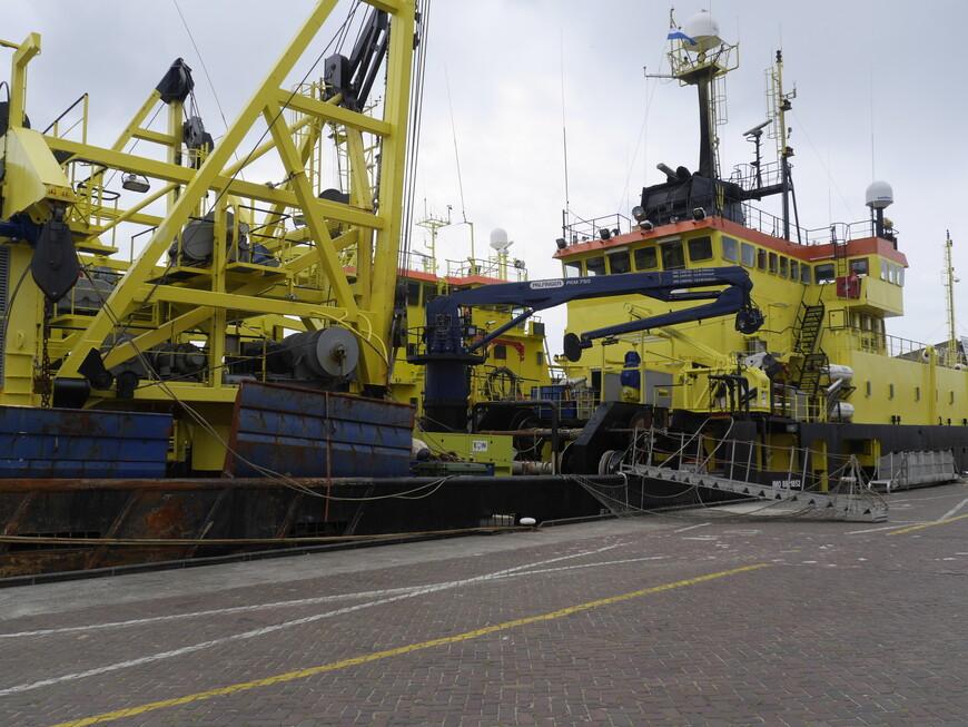 Порт в Гааге, здесь интересно побродить, а также поесть свежезасоленной селедочки.