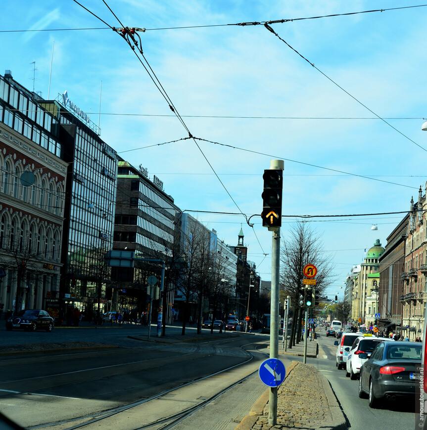 Мы с удовольствием рассматривали улицы Хельсинки.