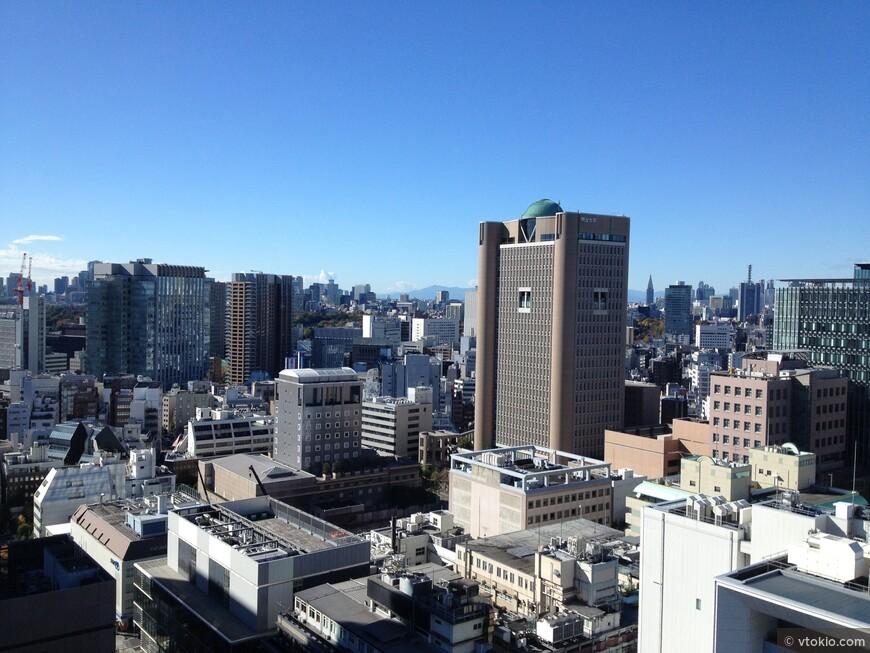 Токио красив с высоты особенно зимой
