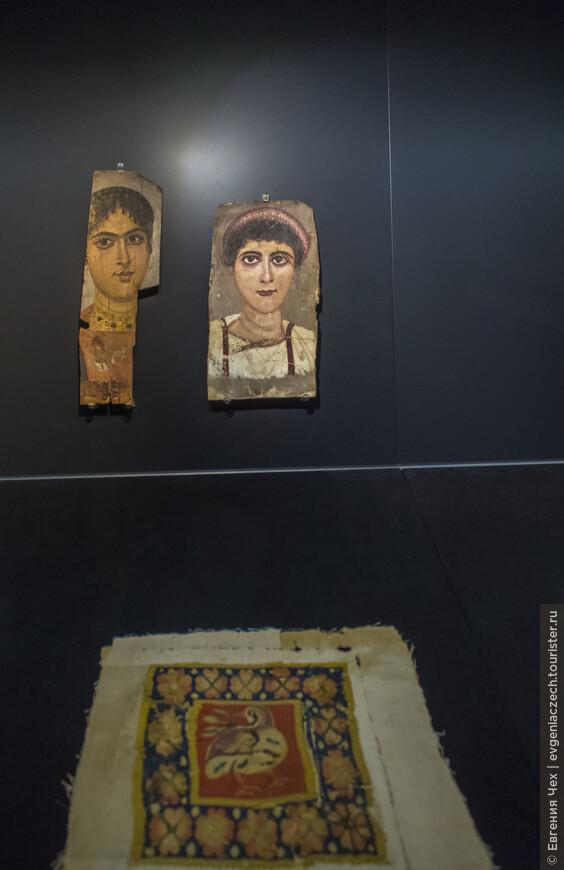 Портреты для мумий изготавливались при жизни, с 1 века н.э. в римском стиле