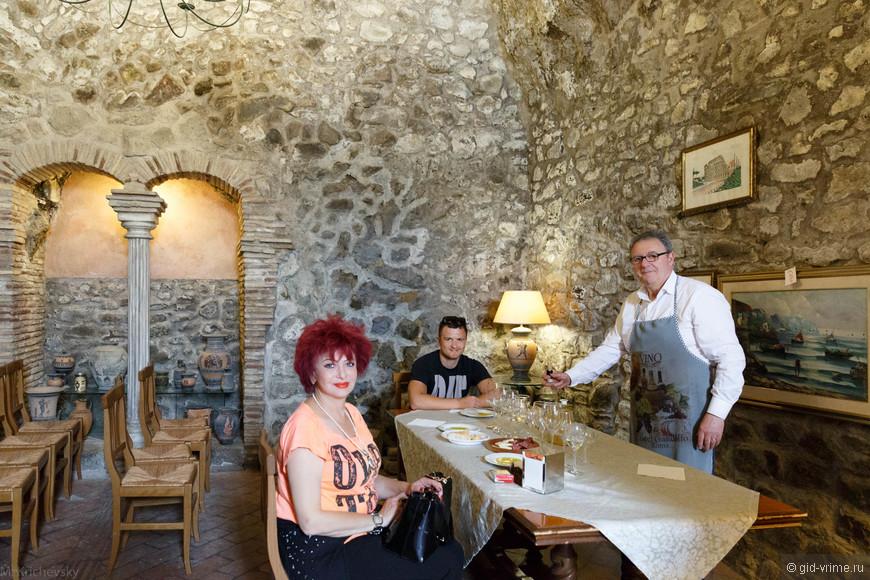 Дегустация вина в Кастель Гандольфо с Ладой и Михаилом.