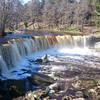 Разливной весенний водопад на реке Кейла