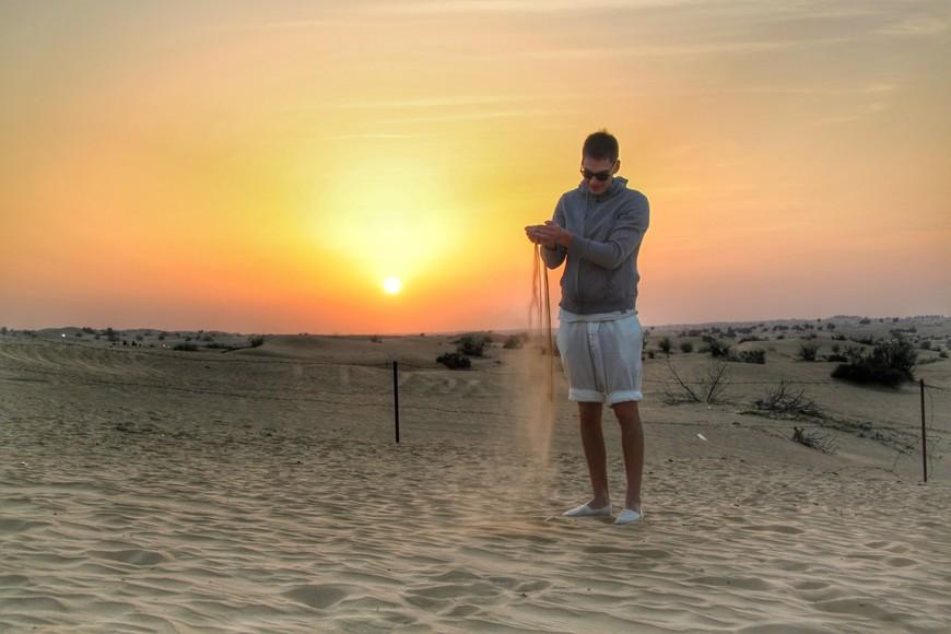 Руб-эль-Хали. Закаты в пустыни фантастические. Но после заката солнца,становится очень холодно.
