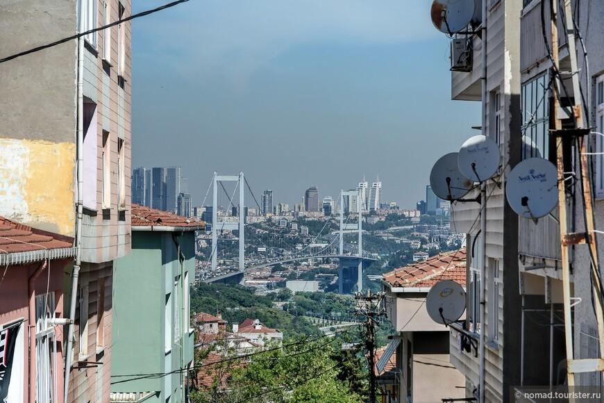 Вид на Босфорский мост.