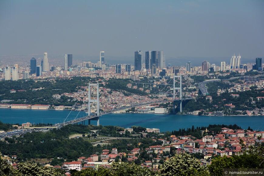 Вид на Босфорский мост крупным планом.