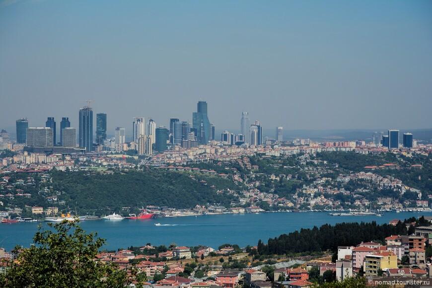 Вид на Босфор и район Левент.