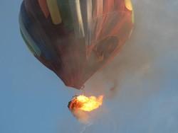 В Техасе загорелся воздушный шар