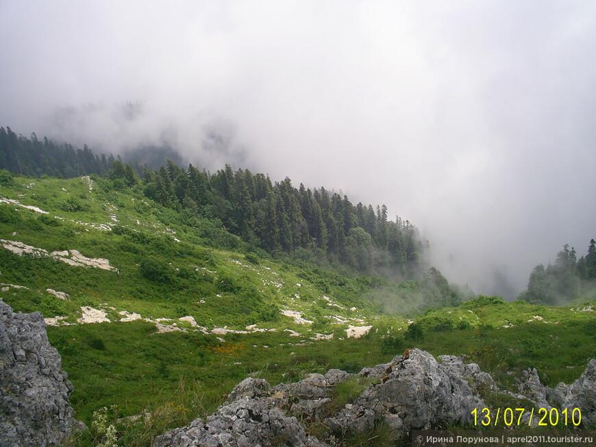 Туман в горах... или облака на горе...