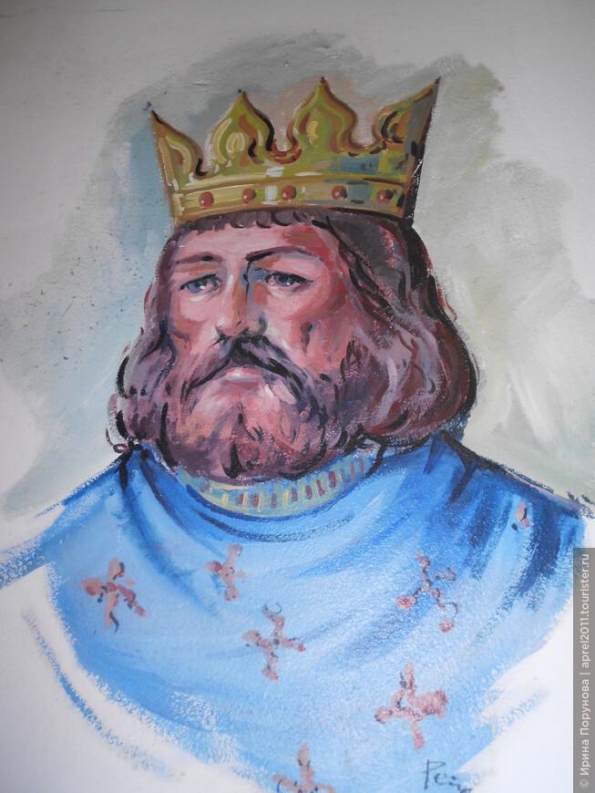 Настенная живопись в рыцарском замке.