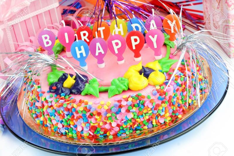 День рождение фото с тортом