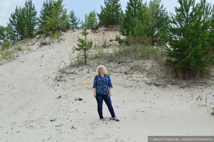 Таёжные белые пески. Где-то по дороге Нижневартовск - Сургут.