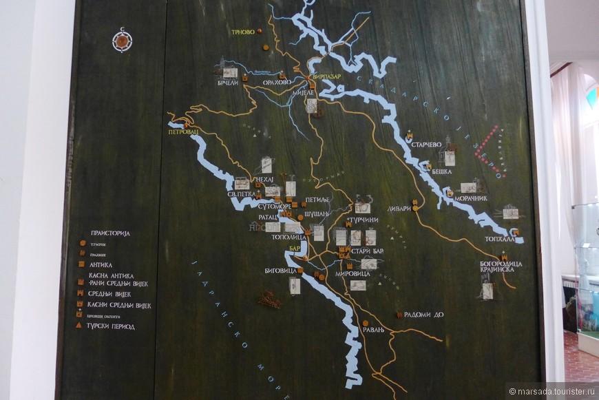 Карта общины Бара.