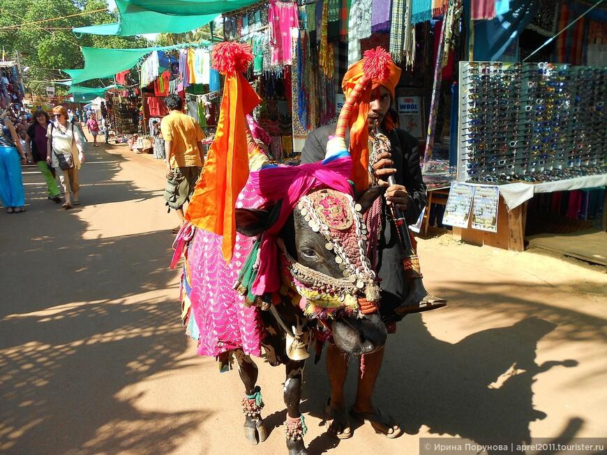 Индийский колорит на рынке.