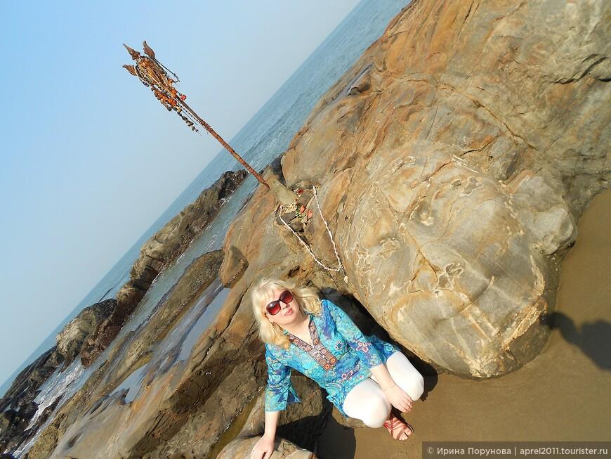 Тот самый Шива на пляже Вагатор.