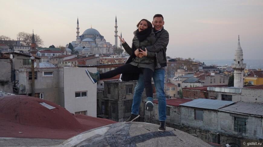 Хорошо быть на крышах исторических объектов, а на фоне мечеть Сулеймана