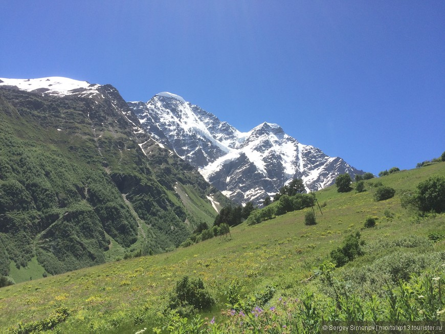 Вид с горы Чегет