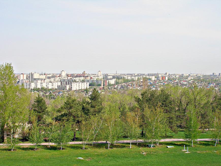 Панорама Дзержинского района Волгограда.