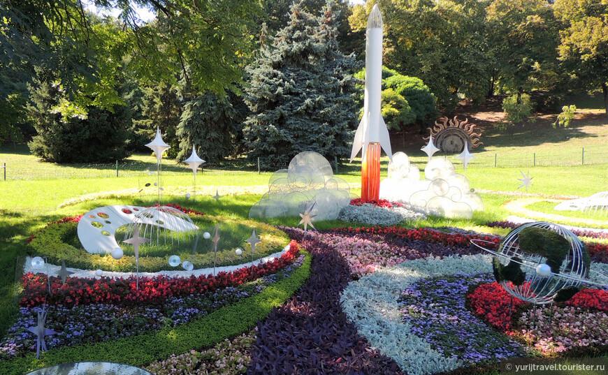 А эта инсталляция посвящена творчеству известного конструктора космической техники - Сергею Королеву (1906 - 1966), детство и юность которого прошли в Житомире, а студенческие годы в Киеве ...