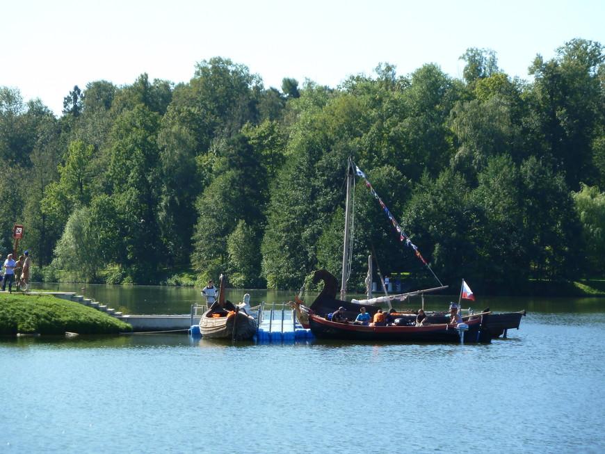 Флотилия на верхнем пруду.