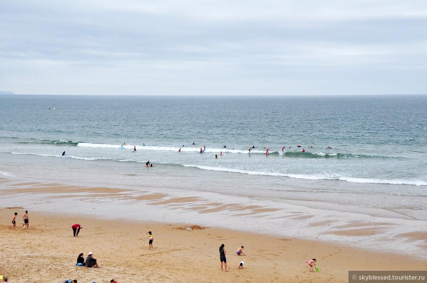 первая остановка - пляж в Carcavelos.