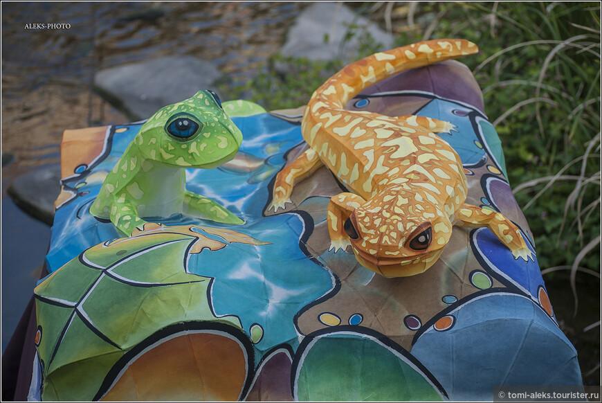 В Южной Корее обитают некоторые виды ящериц, особенно на вулканическом острове Чеджу на юге страны. Я так понял, что изображения этих животных не чужды корейским художникам и скульпторам.