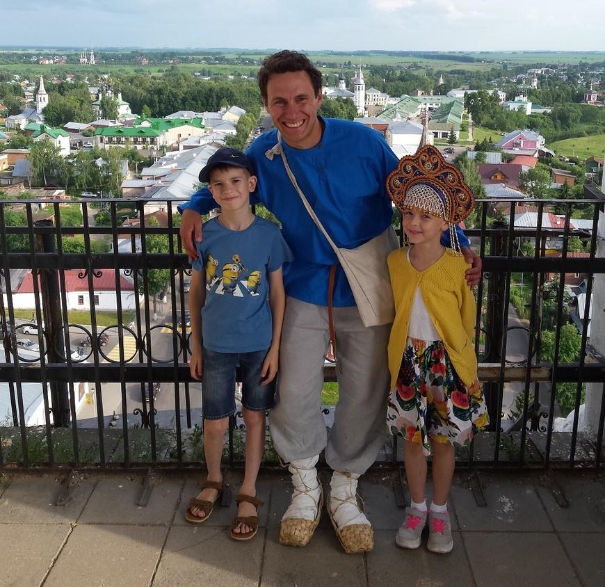 С Эмилем и Дашей на самой высокой в городе колокольне