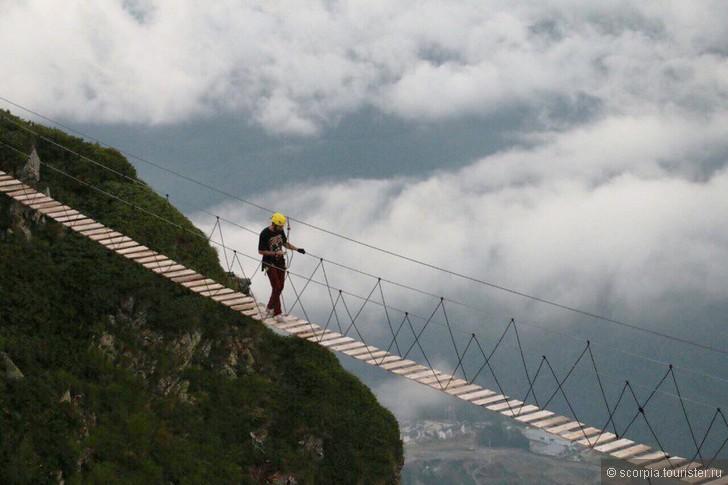 Мост на роза хутор