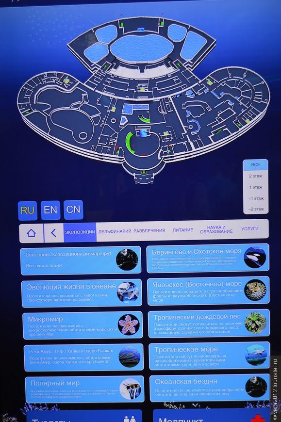 Интерактивный План Океанариума