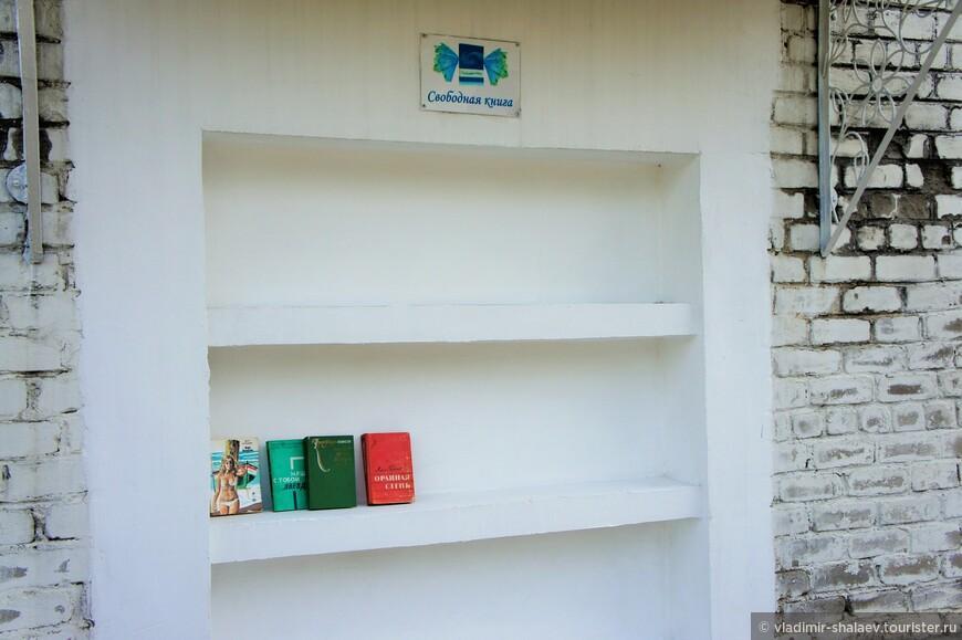 Возле городской библиотеки ниша с книгами. Прочитай - передай другому. К вечеру полки опустошаются, а утром наполняются вновь. Торопчане читают по ночам!