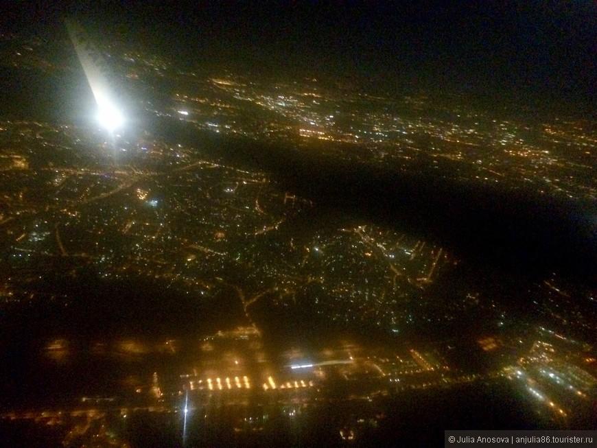 Рейс на Рим был поздним. Красота Рима ночью)))