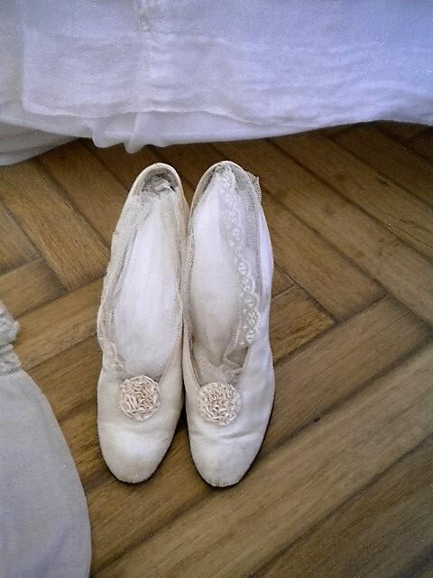 Свадебные туфельки.