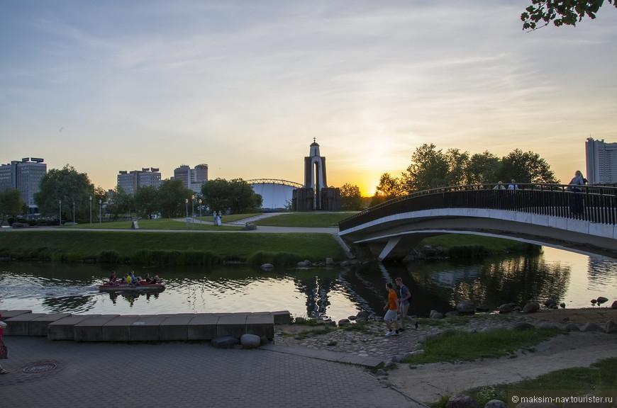 Вид на Остров Слёз на реке Свислочь.