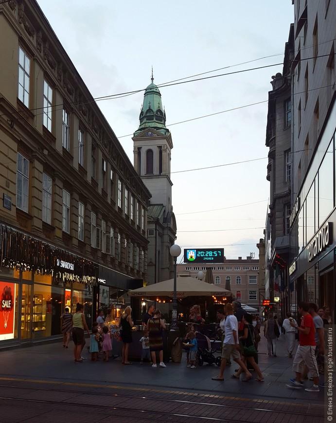 Через несколько метров будет центральная площадь Загреба.