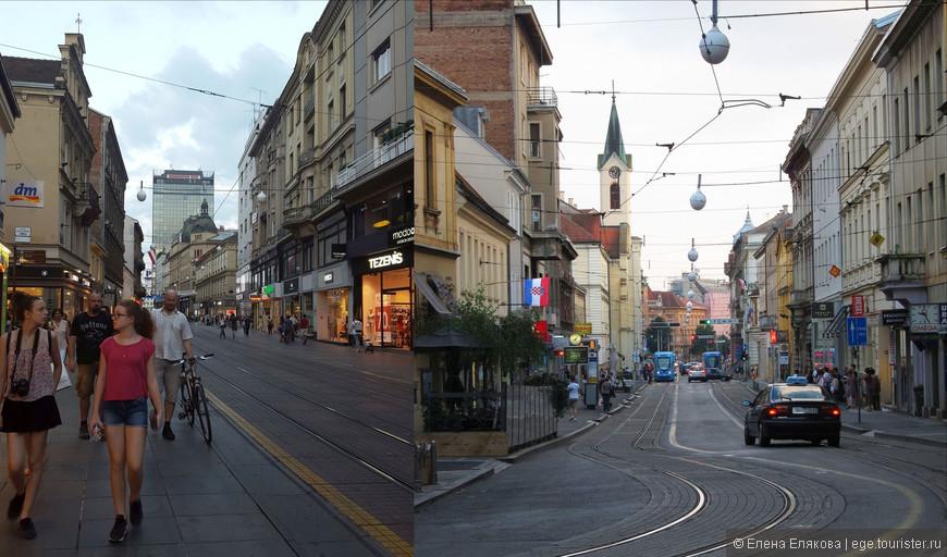 В Загреб мы приехали на автобусе из Любляны и поселились в квартире-студии на улице Илица (Ilica). Это старинная улица, на которой много интересных зданий, дворов, есть маленькие музеи и театры (например, музей иллюзий), а вдоль улицы — несколько небольших площадей. Илица доходит до центральной площади Загреба — площади бана Йосипа Елачича. От нашего места жительства до этой площади можно дойти пешком (или остановки 3 на трамвае, которым мы ни разу не воспользовались), но я точно не могу сказать сколько времени занимает путь до площади, потому что по дороге мы рассматривали почти каждое здание, заглядывали во дворы.