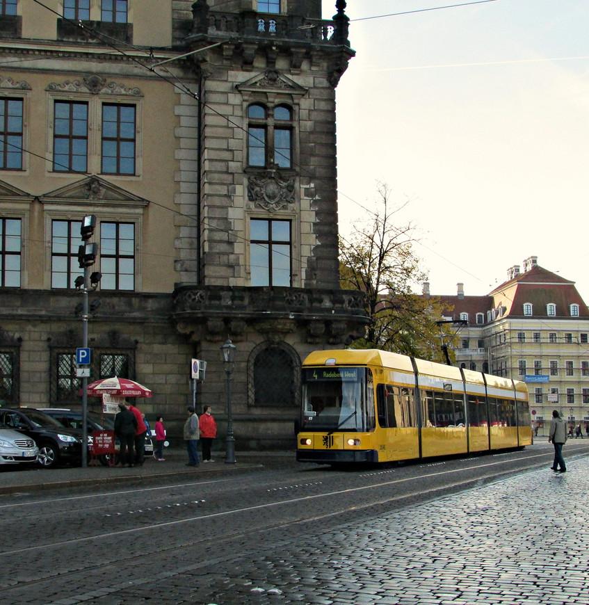 Дрезденский  трамвай.