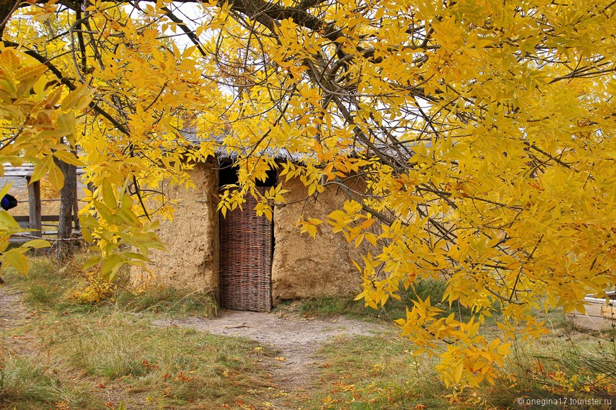 Осенняя красота даже такое скромное жилище сделало симпатичным.