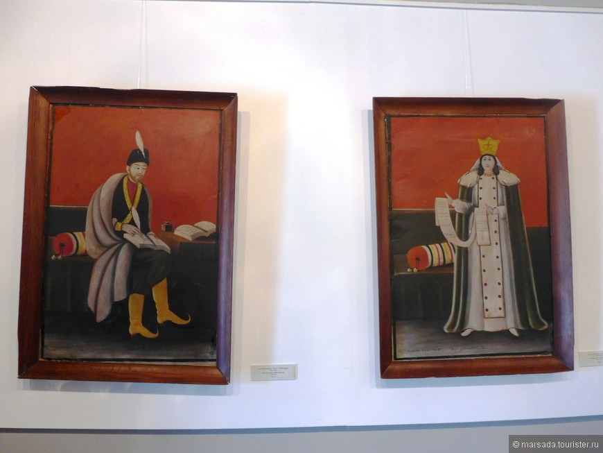 портреты Важа Пшавела и царицы Тамары
