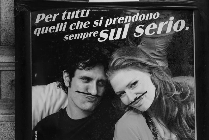 Просто обычная итальянская реклама.