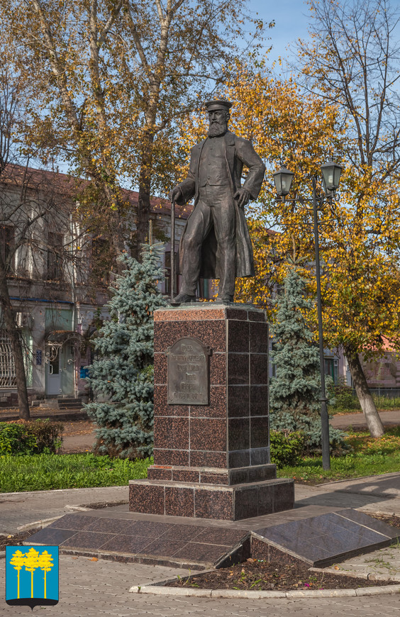 Мелекесс (Димитровград). Памятник первому голове посада Мелекесс Маркову Константину Григорьевичу
