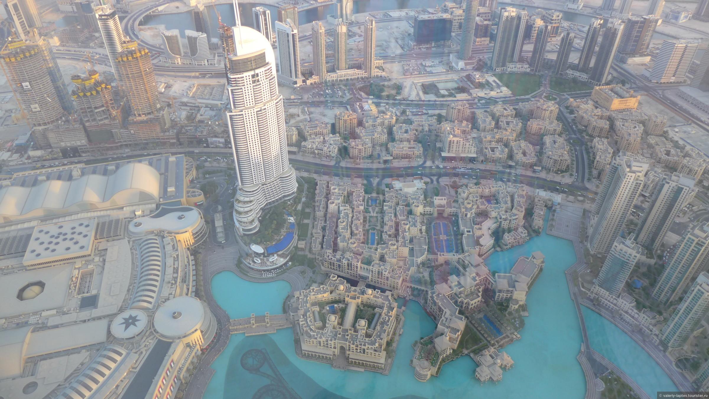 Вид с небосреба Бурдж-Кхалифа без смс