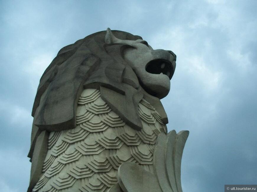 символ сингапура - морской лев