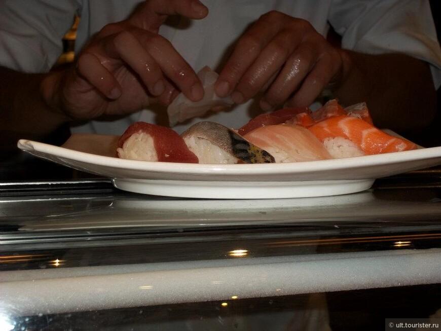суши готовят при тебе