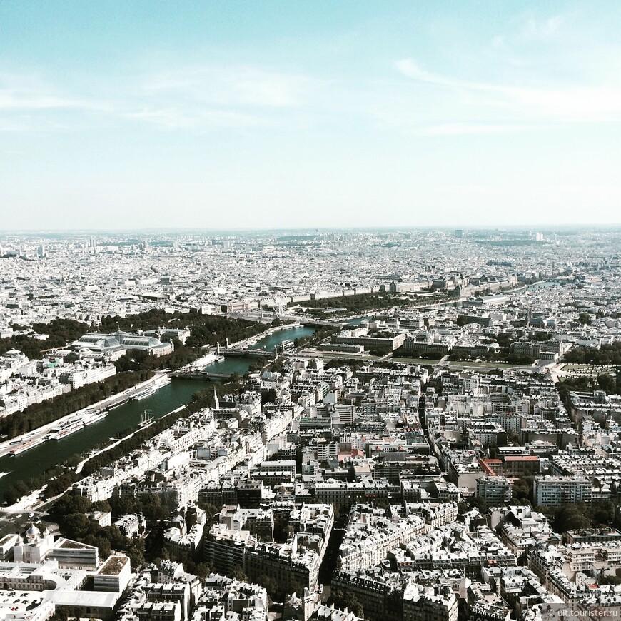 вид на город с Эйфелевой башни