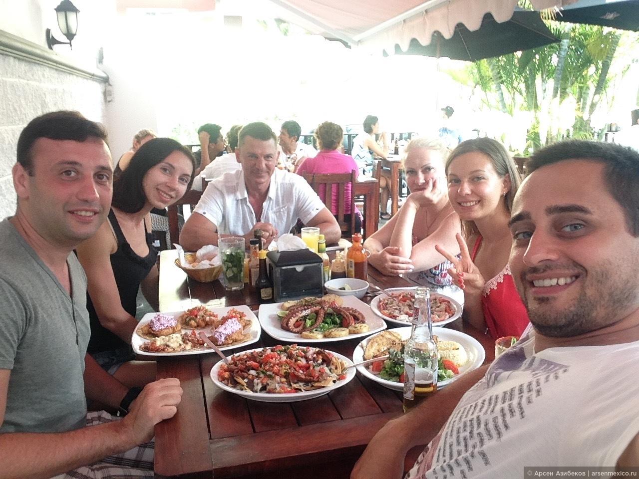 Еда в Канкуне