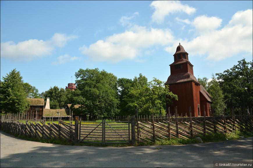 Сельская деревянная церковь  Seglora kyrka, 18 век.
